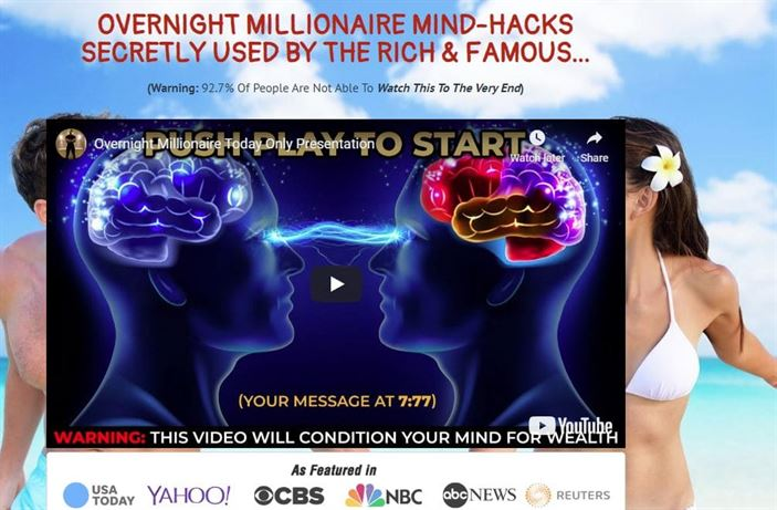 Overnight Millionaire mind hacks - used by rich & famous