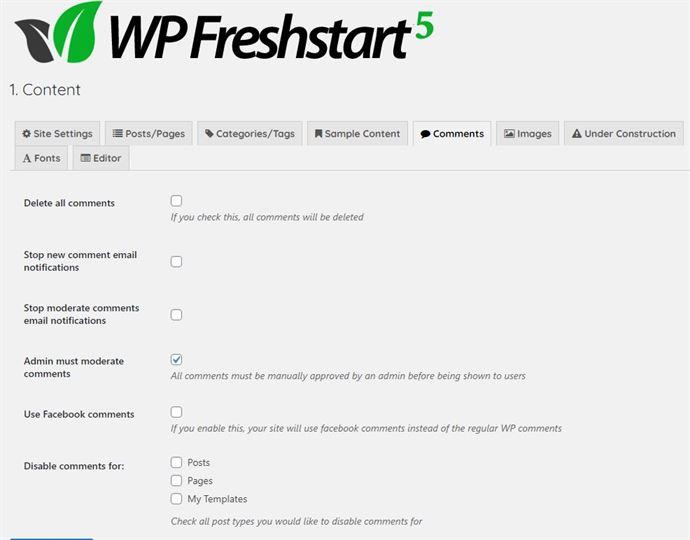 Wp-Freshstart-Comment-Tab