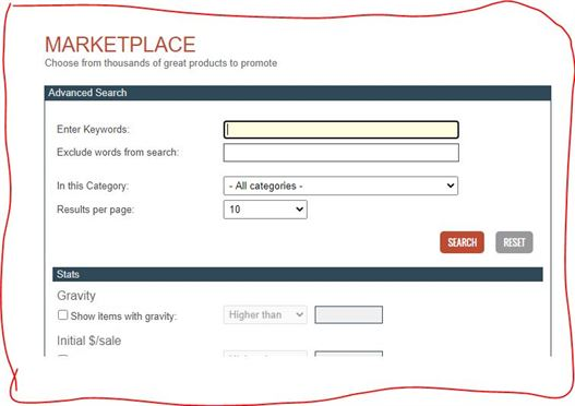ClickBank Advanced Search page2